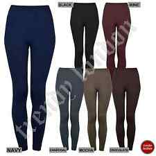 New Womens Ladies Thick Warm Thermal Fleece Leggings Full Length Footless Tights