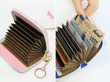 With Alice - Accordion Card Wallet - Faux Leather Credit Card Holder Case Wallet