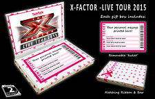 X FACTOR LIVE TOUR 2015 Personalised Concert Ticket Gift Box