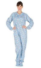 Footed Pajamas - Bunny Love Adult Cotton
