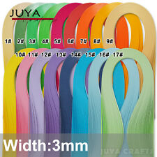 JUYA 3mm Width Single Color Paper Quilling ,420mm Length,100 strips 17 Colors