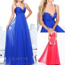 New Long Strappy Formal Bridal Evening Dress Bridesmaid Dresses Prom Party Gown