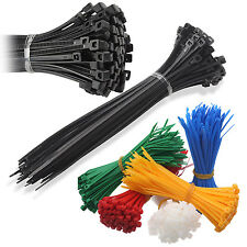 CABLE TIES - All Sizes and Colors - PLASTIC WRAP ZIP TIDY TIDIES, CABLE TIDY