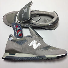 New Balance 998 'M998' Gray Suede/Mesh Men's Running Shoes