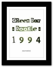 ❤  Green Day - Dookie - 1994❤ Albums That Built Punk typography poster art print
