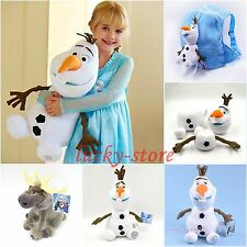 Free Gift Disney Frozen Movie Sven Reindeer The Snowman Olaf Plush Soft Toy Doll
