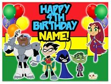 Teen Titans Go Birthday Edible Image Cake Topper Personalized Frosting Sheet