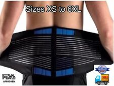 Deluxe Neoprene Double Pull Lumbar Lower Back Support Brace From Small to XXXL
