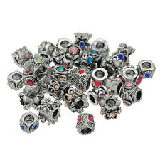 Wholesale Lots Mixed European Rhinestone Charms Beads Fit Charm Bracelets