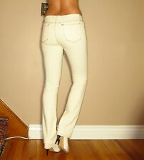 Celeb Fave J Brand 914 Straight Leg Low Rise Natural Off-White Jeans 30 NWT