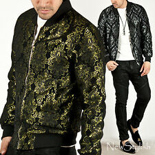 NewStylish Mens Fashion Casual Tops Outers Sleek Luxurious Pattern Jersey Jacket
