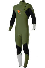2014 NEW RIP CURL MEN 3/2 WETSUIT E BOMB PRO CHEST ZIP FATIQUE GREEN STEAMER