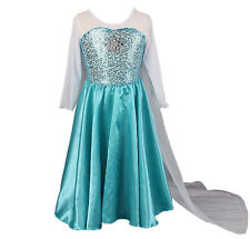 Frozen Elsa Inspired Deluxe Fancy Dress Outfit Dressing Up Costume NEW
