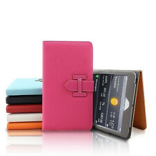 Hand Strap Card Pocket  Lichee Pattern Leather Case Cover For Apple iPad Tablet