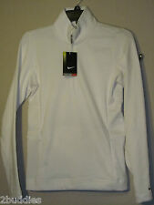 Nike Thermafit Golf Pullover 1/2 Zip Warm Up Jacket 483707 White 100 M L Nwt$65