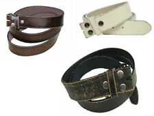 "#WN57 - DISTRESSED LEATHER 1.5"" WIDE BELT WITH SNAPS, 3 COLORS & SIZES 4 MOST"