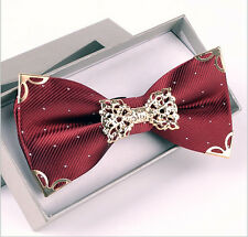 MENS SPECIAL WEDDING PRE TIED BOW TIE Metallic Elegant Groom Groom Maid Bow Tie