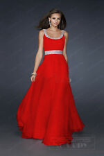 New Long Formal Chiffon Party Ball Gowns Prom Evening Bridesmaid Dress Size 6-16