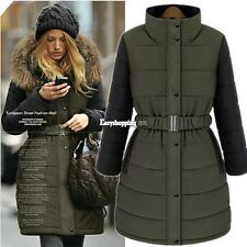 New Women Winter Warm Coat Faux Fur Hooded Cotton Jacket Jacket Parka Outwear ES