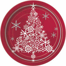 Christmas Tree and Sparkle Paper Party Plates 1-48pk