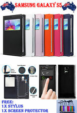 S-VIEW WATERPROOF LEATHER FLIP CASE COVER FOR SAMSUNG GALAXY S4 / S5 / NOTE 3