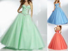 2014 Stock Tulle Bridesmaid Dresses Evening Party Gown Prom Wedding Dress 6-16