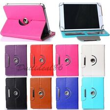 "360 Rotating Leather Stand Case Cover For Universal Tab 7"" 8"" 9"" 10"" inch Tablet"