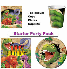 Dinosaur T-Rex 8-48 Guest Starter Party Pack - Tablecover,Cups, Plates, Napkins