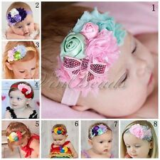 Kid Girl Baby Toddler Infant Chiffon Flower Headband Hair Bow Band Accessories