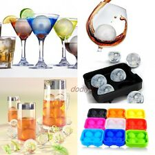 1pc Whiskey Ice Balls Maker Tray Candy colors Sphere Silicon Molds Cube