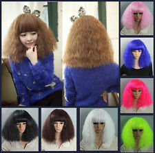 New Fashion Women's Corn Curly Wavy Long Full Wig Hot Cosplay Party Multicolors