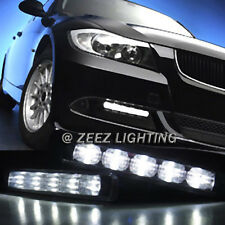 High Power Ultra Bright White LED Daytime Running Light Kit DRL Lights Fog Lamp