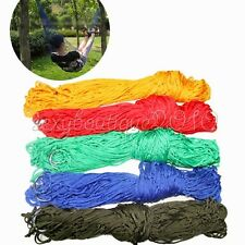 Nylon Hammock Hanging Mesh Sleeping Bed Swing Outdoor Sports Camping Travel New