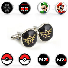 Silver Mens Cufflinks Classic Retro Video Game - Arcade Console PC TV Xmas Gift