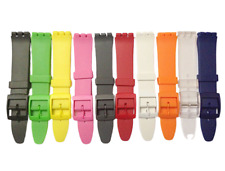 Replacement 17mm (20mm) Resin Watch Straps For SWATCH