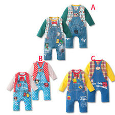 New Cute Baby Girls Boys Kids Children Cowboy Climb Clothes Suits Outfits Sets