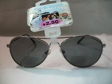 Foster Grant SunReaders Jet Gun Bifocal Aviator Reading Glasses 1.50 2.00 2.50