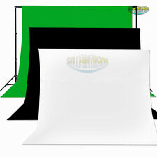Photography Studio 3 Colors 5 Sizes Muslin Backdrop Pure Background Seamless NEW