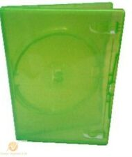 Single Clear Green DVD Case 14 mm Spine Empty Replacement Amaray Cover