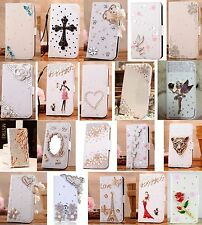 New Luxury Bling Crystal Diamond Flip Wallet PU Leather Case Cover For Phone