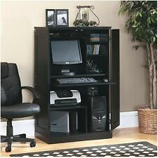 Computer Armoire Desk Office Furniture Home Cabinet Storage Hutch Wood Space NEW