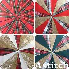 TARTAN FABRIC BUNTING. BURNS NIGHT. HOGMANY different lengths and designs
