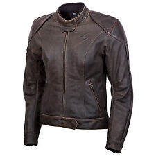 Scorpion Womens Catalina Leather Motorcycle Riding Jacket Brown ALL SIZES