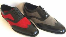 NEW MENS DRESS SHOES TWO TONE WEDDING PROM BRIGHTON 005 & 011 W/LEATHER LINING