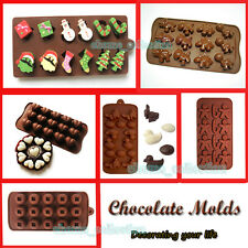 Silicone Christmas Chocolate Cake Cookie Muffin Jelly Baking Mould Mold Clay DIY