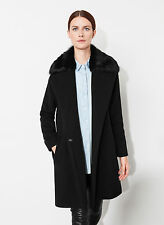 NWT UTERQUE (ZARA COMPANY) -  COAT WITH DETACHABLE FUR COLLAR - AW  2014