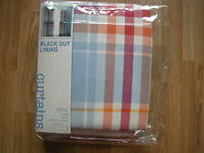 NEXT BRIGHT CHECK CURTAINS PENCIL PLEAT BLACKOUT THERMAL LINED BOYS VARIOUS SIZE