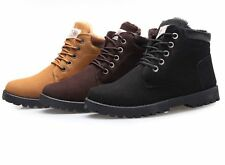 Winter Mens Casual Lace up Warm short Ankle Boots fur lined Sneakers Snow Shoes