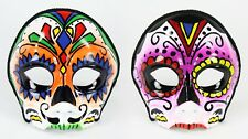 DIA DE LOS MUERTOS Day of the Dead 1/2 MALE / FEMALE Painted Mask