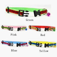 Flashing Nylon Bell Collars For Dogs Cats Personalized Puppy Pet Products